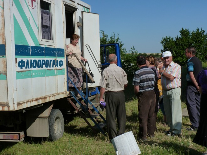 Передвижной флюорограф приехал к жителям села Котловина Ренийского района